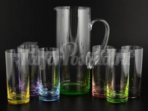"""Набор 7 пред. """"Радуга"""" кувшин 1,5 л и 6 стаканов 300 мл"""