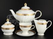 """Сервиз чайный """"Платиновая золотая лента"""" Кристина на 6 перс. 15 пред."""
