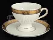 "Набор для чая 230 мл ""Платиновая золотая лента"" Кристина на 6 перс. 12 пред."