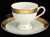 "Набор для кофе 165 мл ""Платиновая золотая лента"" Кристина на 6 перс. 12 пред."