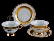 "Набор для чая ""Лента золотая""(чашка155мл.+блюдце) на 6перс.12пред."