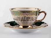 """Набор для чая """"Лист зеленый"""" (чашка155мл.+блюдце) на 6перс.12пред."""