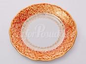 """Набор тарелок """"Лист красный"""" 19см."""