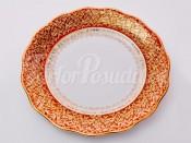 """Набор тарелок """"Лист красный"""" 24см."""