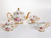 """Сервиз чайный """"Роза"""" на 6 перс. 15 пред."""
