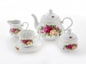 """Сервиз чайный """"Роза 8105100"""" на 6 перс.15 пред."""
