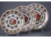 "Набор тарелок для сервировки стола ""Мадонна"" 18шт."
