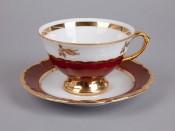 "Набор для чая ""Роза красная""(чашка155мл.+блюдце) на 6перс.12пред."