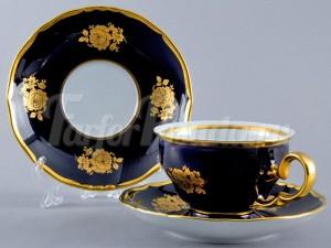 "Набор для чая ""Роза золотая АГ838"" (чашка+блюдце) 160мл. на 6перс. 12пред."