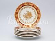 "Набор тарелок ""Роза красная"" 25см. 6шт."