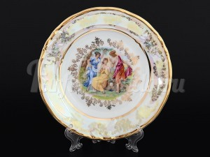 "Набор десертных тарелок 19 см 6 шт. ""Мадонна перламутр"" Корона"