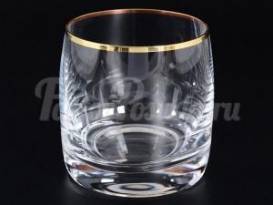 """Набор стаканов 230 мл 6 шт. """"Отводка золото"""" Идеал"""