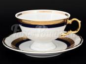 """Набор для чая 220 мл """"Кобальт золото"""" Мария Луиза на 6 перс. 12 пред."""