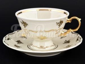 """Набор для чая 220 мл """"Золотой цветок Айвори"""" Мария Луиза на 6 перс. 12 пред."""
