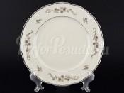 """Набор подстановочных тарелок 25 см 6 шт. """"Платиновый цветок Айвори"""" Мария Луиза"""
