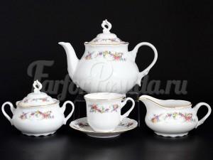 """Сервиз чайный """"Цветочный сарафан"""" Констанция на 6 перс. 15 пред."""