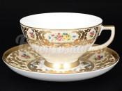 """Набор для чая 220 мл """"Вена кремовая с золотом"""" на 6 перс. 12 пред."""