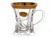 """Набор для чая 90 мл 6 шт. """"Матовое золото"""""""