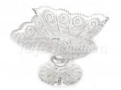 """Ваза для конфет 18 см на ножке """"Хрусталь снежинка 61141"""""""