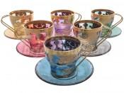 """Набор для кофе """"Veneziano Color"""" на 6 перс. 12 пред."""