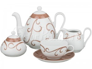 """Сервиз чайный """"Инфинити"""" Виола 012 на 6 перс. 15 пред."""