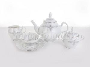 """Сервиз чайный """"Тонкое кружево"""" Бернадотт на 6 перс. 15 пред."""