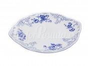 """Блюдо для торта 27 см с ручками """"Синий орнамент 4074"""" Бернадотт"""