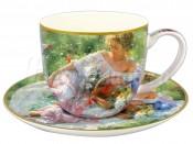 """Набор для чая 250 мл 2 пред. """"Девушка с корзиной цветов"""""""