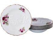 """Набор глубоких тарелок 23 см 6 шт. """"Розы"""" МГ864"""