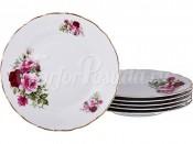"""Набор закусочных тарелок 21 см 6 шт. """"Розы"""" МГ864"""