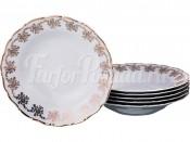 """Набор глубоких тарелок 23 см 6 шт. """"Золотые вензеля"""" ОФ532"""