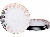 """Набор десертных тарелок 19 см 6 шт. """"Золотые вензеля"""" ОФ532"""