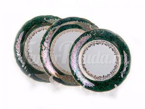 "Набор тарелок для сервировки стола 18 пред.""Лист зеленый"""