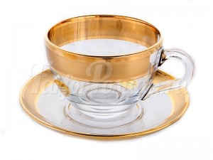 "Набор для чая 200 мл ""Матовое золото"" на 6 перс. 12 пред."