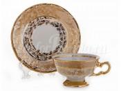"""Набор для кофе 110 мл """"Лист бежевый"""" на 6 перс. 12 пред."""
