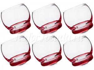 """Набор стаканов 390 мл 6 шт. """"Crazy"""" красные"""
