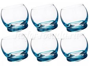 """Набор стаканов 390 мл 6 шт. """"Crazy"""" голубые"""