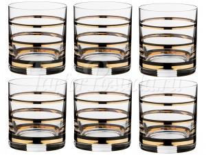 """Набор стаканов 280 мл 6 шт. """"Wellness"""" Барлайн черное золото"""