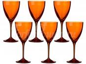 "Набор бокалов 250 мл 6 шт. ""Kate"" оранжевые"