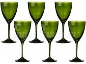 """Набор бокалов 250 мл 6 шт. """"Kate"""" зеленые"""