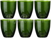 """Набор стаканов 300 мл 6 шт. """"Kate"""" зеленые"""