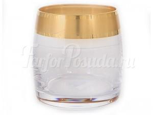 """Набор стаканов 230 мл 6 шт. """"Матовое золото"""" Идеал"""