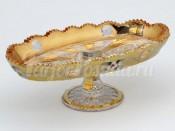 """Ваза для конфет """"Хрусталь с золотом"""" овал 210"""