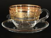 """Набор для чая 220 мл """"Панто Золото"""" на 6 перс. 12 пред."""