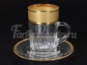 """Набор для чая """"Матовое золото"""" на 6 перс. 12 пред."""