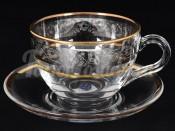 "Набор для чая 220 мл ""Панто Платина"" на 6 перс. 12 пред."