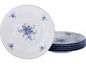 "Набор закусочных тарелок 21 см 6 шт. ""Незабудки"" ОФ592m"