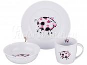 """Набор посуды для детей 3 пред. """"Свинки"""" розовый"""