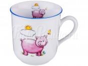 "Кружка 170 мл ""Свинки"" розовая"