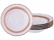 """Набор глубоких тарелок 23 см 6 шт. """"Клаудия"""""""